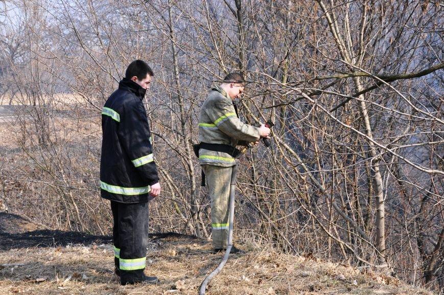 Пожарные в Юбилейном: обширное возгорание сухой травы и листьев (ФОТО и ВИДЕО), фото-5