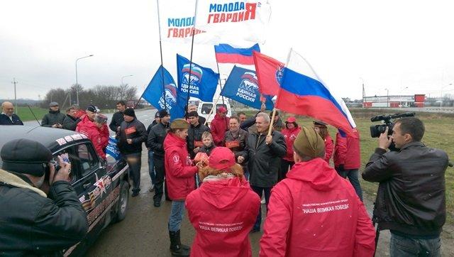 Автоколонна «Наша Великая Победа» побывала в Белореченском районе (фото) - фото 1