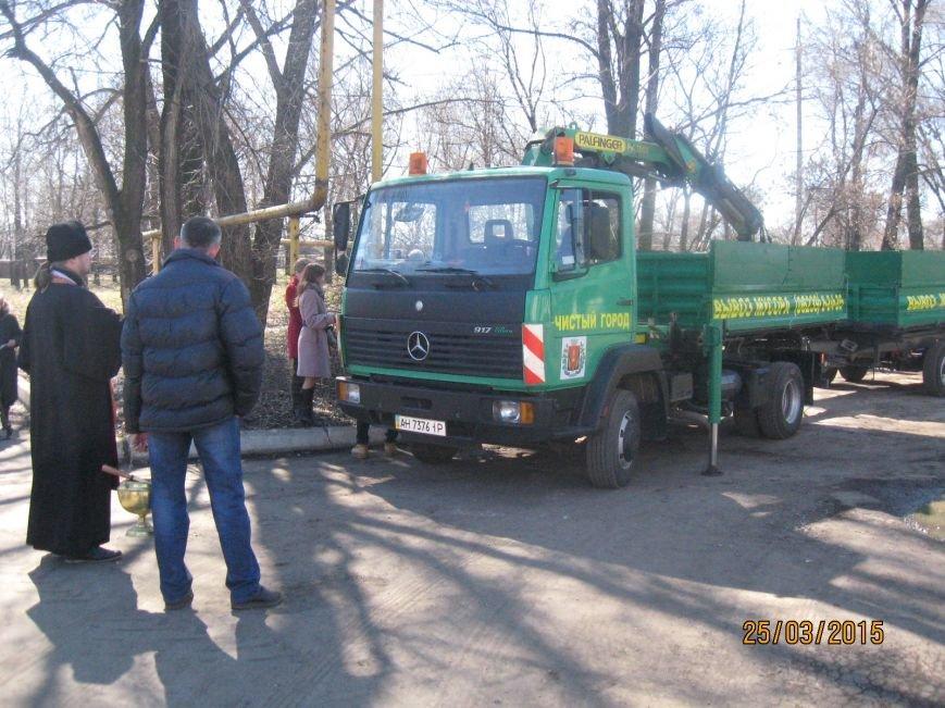 В Димитрове презентовали очередную спецтехнику по уборке мусора, фото-1