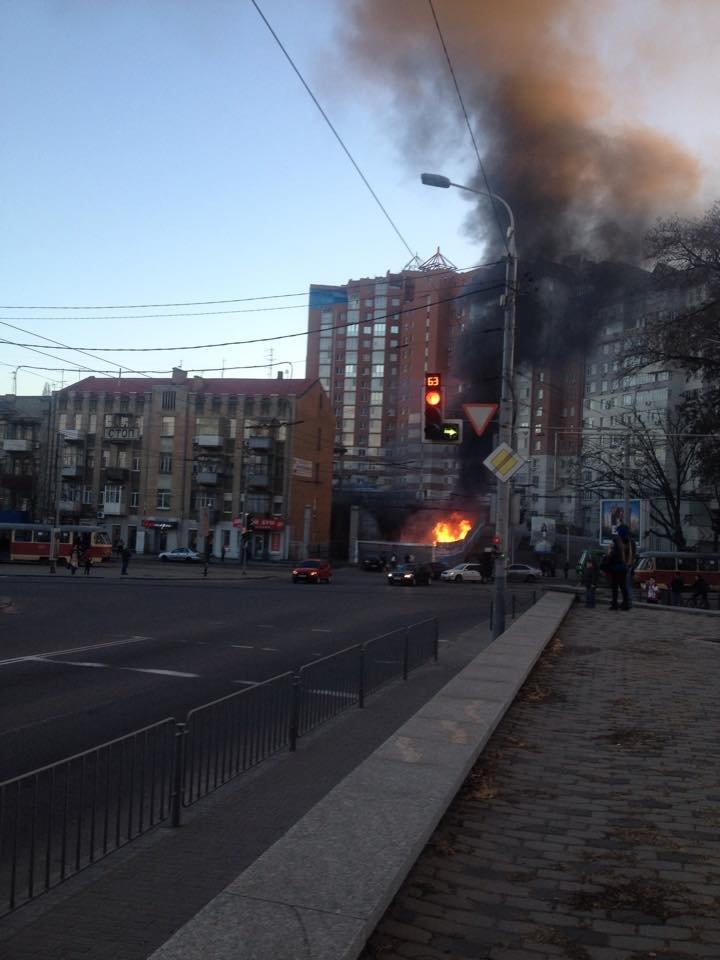 Пожар в Днепропетровске - второе ЧП за сутки (фото) - фото 1