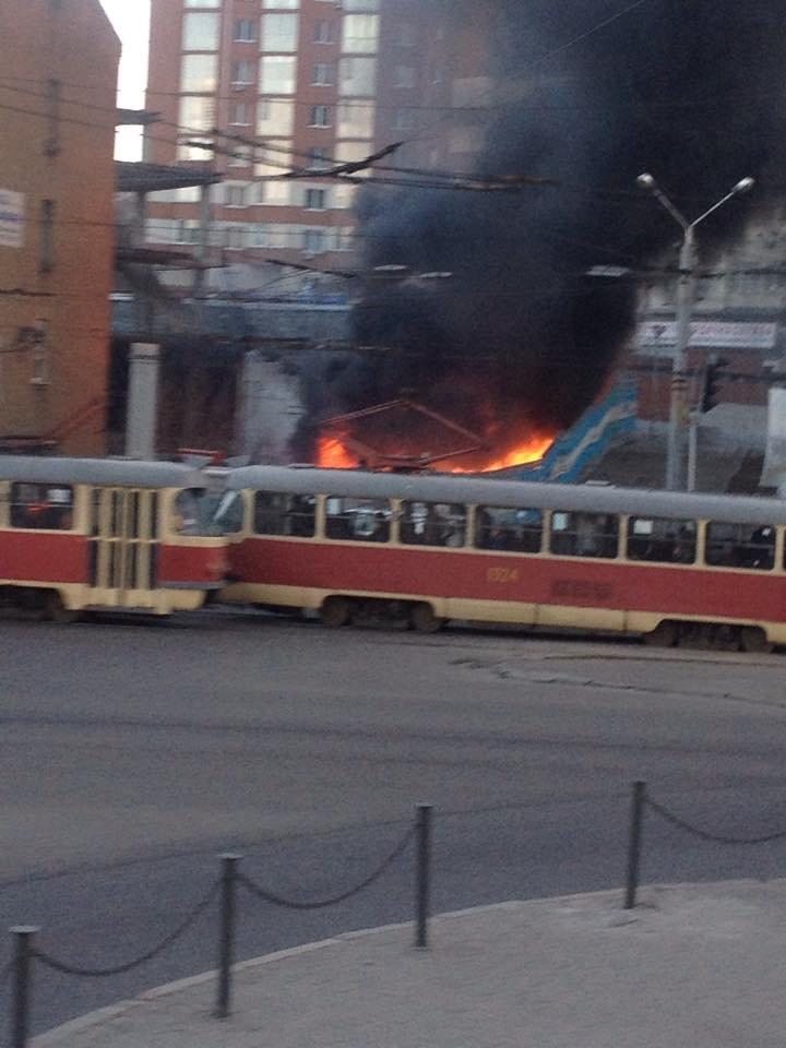 Пожар в Днепропетровске - второе ЧП за сутки, фото-1