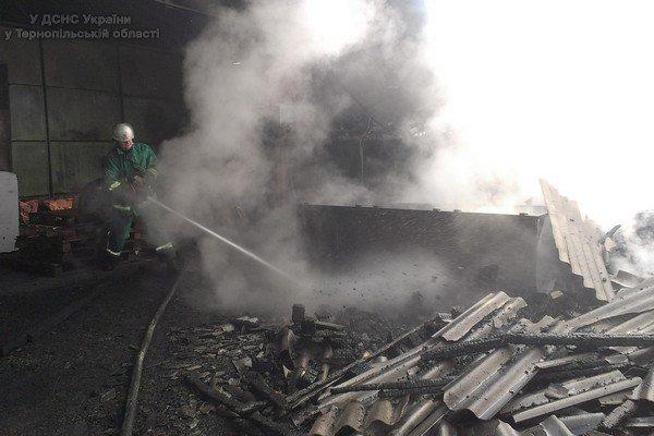 На Тернопільщині горів склад благодійної організації (фото) (фото) - фото 1