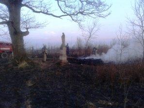 На Львівщині через пожежу трави, вщент згоріла капличка (ФОТО) (фото) - фото 1