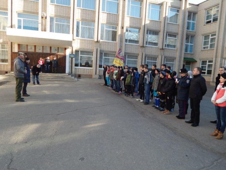 Сотрудники уголовно-исполнительной инспекции Херсонской области приняли участие в школьном мероприятии «Украина Единая» (фото) - фото 1