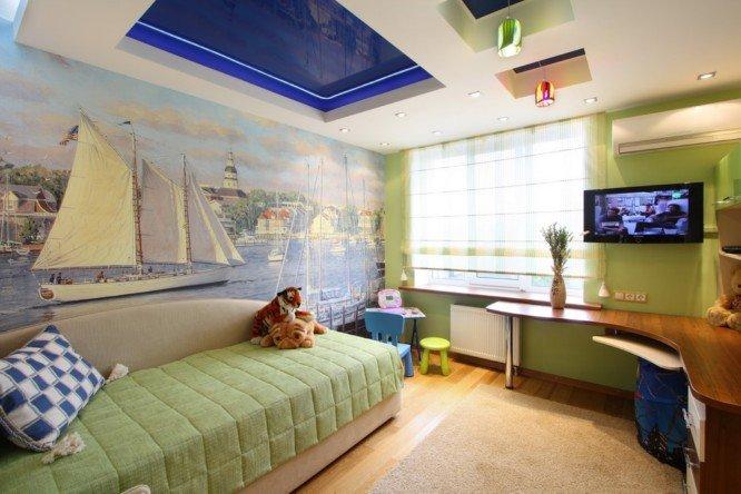 Натяжной потолок в детской комнате, фото-1