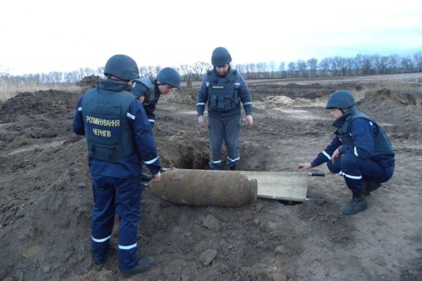 В Черниговской области пиротехники обезвредили 250-килограммовую бомбу (фото) - фото 1