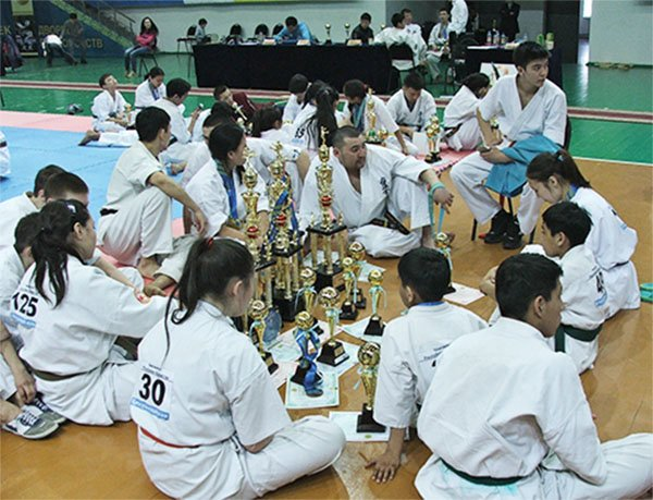 Команда Актюбинской области после награждения