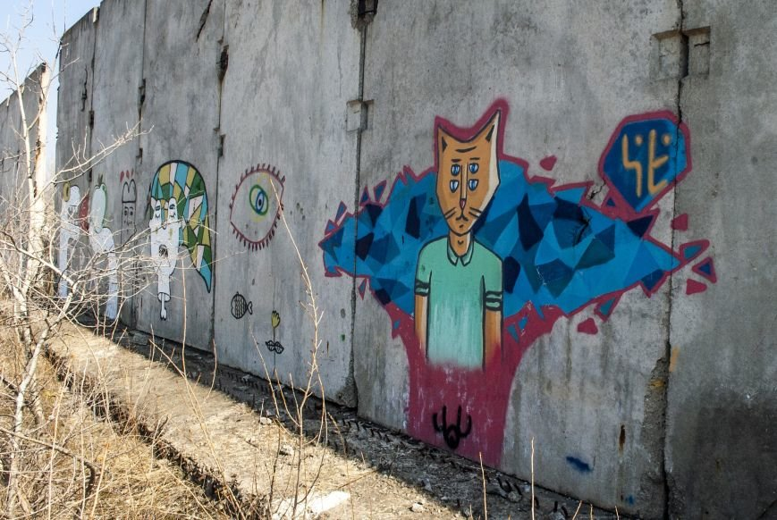 На окраине Запорожья найдена тренировочная база граффити (ФОТОРЕПОРТАЖ), фото-6