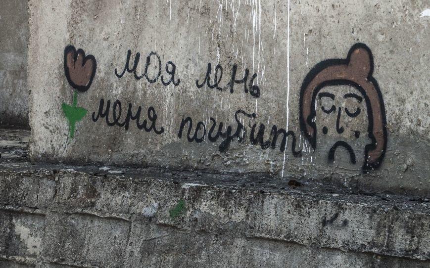 На окраине Запорожья найдена тренировочная база граффити (ФОТОРЕПОРТАЖ), фото-13