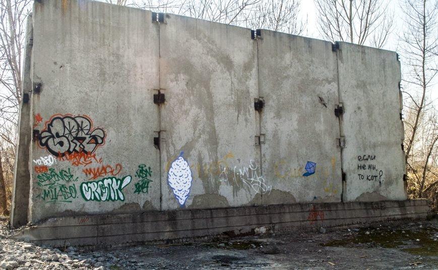 На окраине Запорожья найдена тренировочная база граффити (ФОТОРЕПОРТАЖ), фото-2