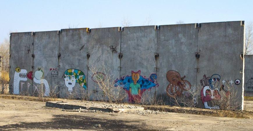 На окраине Запорожья найдена тренировочная база граффити (ФОТОРЕПОРТАЖ), фото-3