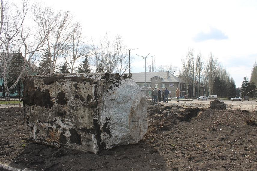 Постамент снесен: площадь г. Доброполья ожидает реализации нового архитектурного проекта (+ ВИДЕО), фото-6