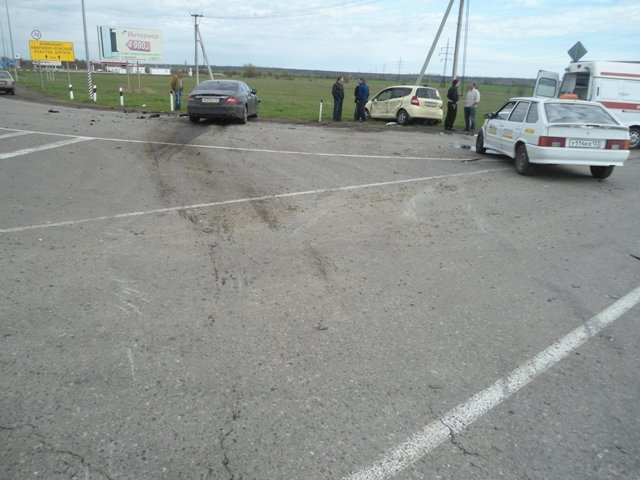 Место столкновение Хонда-ВАЗ. 02.04