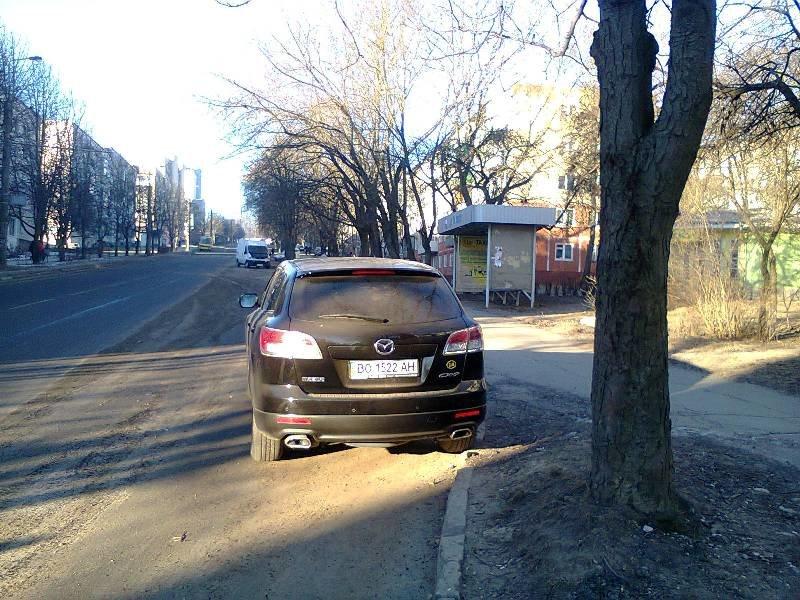 У Тернополі водій припаркувався на зупинці громадського транспорту (фото) (фото) - фото 1
