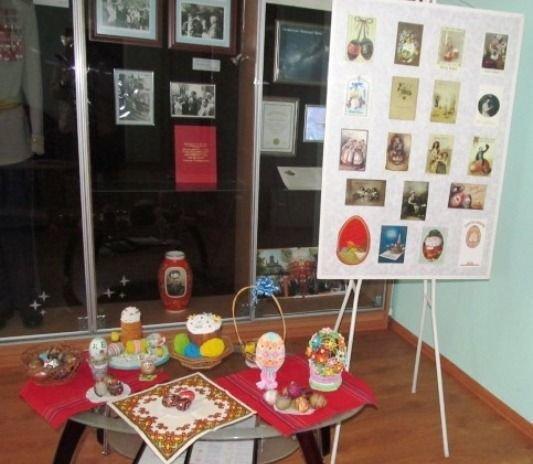 В музее космонавта Берегового в преддверии празднования Пасхи открылась мини-выставка репродукций старинных пасхальных открыток, фото-4