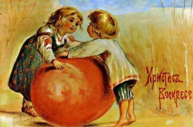 В музее космонавта Берегового в преддверии празднования Пасхи открылась мини-выставка репродукций старинных пасхальных открыток, фото-1