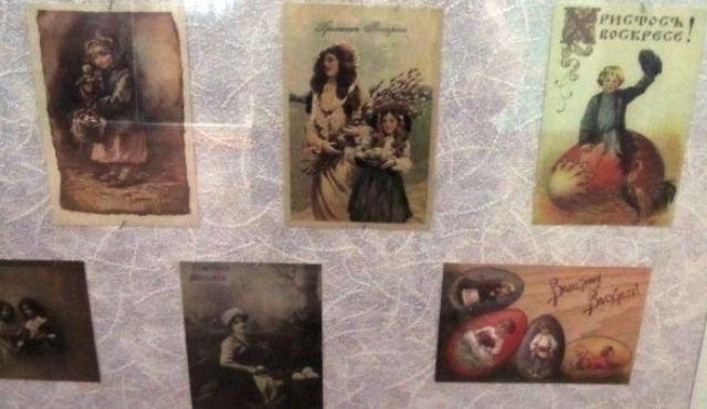 В музее космонавта Берегового в преддверии празднования Пасхи открылась мини-выставка репродукций старинных пасхальных открыток, фото-5