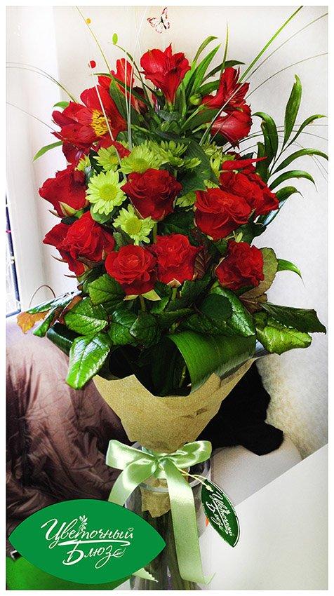 Яркие и романтические букеты с доставкой по Мариуполю (фото) - фото 4