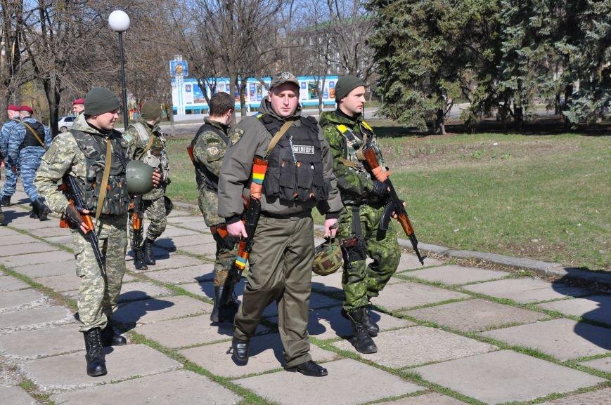 На центральной площади Краматорска прошел развод личного состава горотдела, фото-3