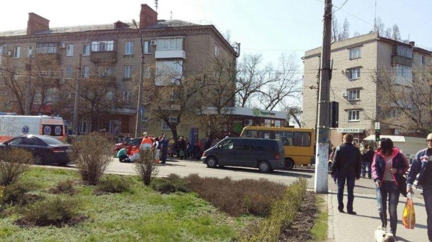 ДТП в Кременчуге: Мерседес сбил женщину (фото с места происшествия) (фото) - фото 1