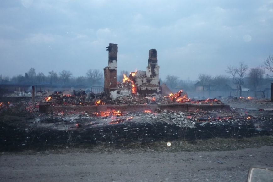 Супер-пожар на Черниговщине сжег пол-села (фото) - фото 1