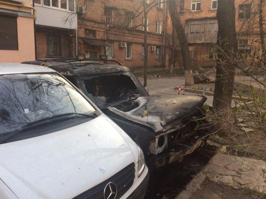 В Харькове ночью сожгли машины евромайдановцев (ФОТО), фото-1