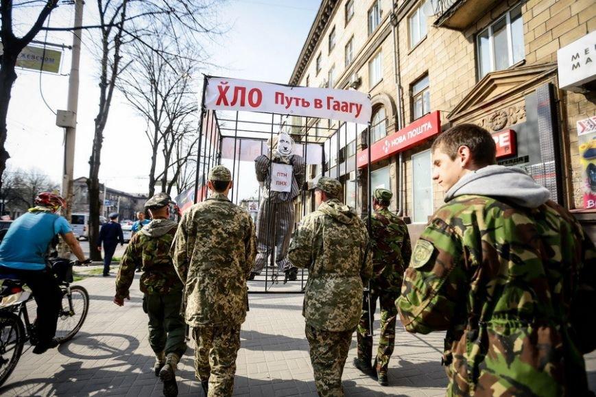 В Запорожье на патриотическом марше Путина посадили в клетку (ФОТОРЕПОРТАЖ) (фото) - фото 1