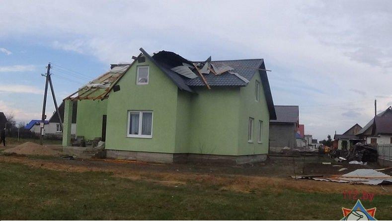 Фотофакт: в Гродно сильный ветер обрушил несколько деревьев и тумбу (фото) - фото 6