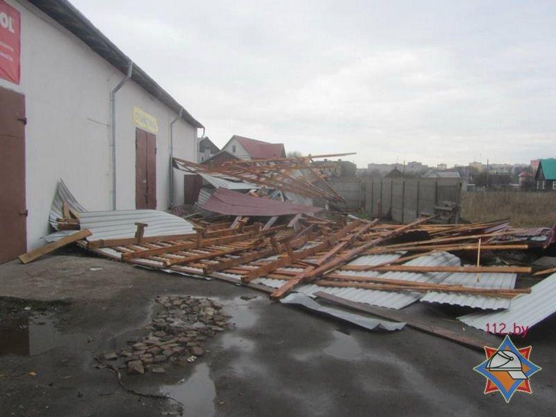 Фотофакт: в Гродно сильный ветер обрушил несколько деревьев и тумбу (фото) - фото 8