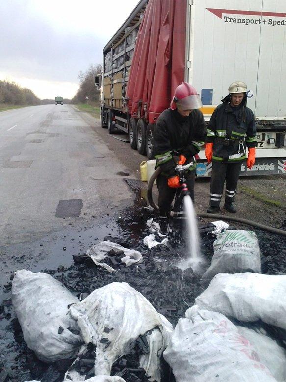 В Кировоградской области горел грузовик (фото) - фото 1