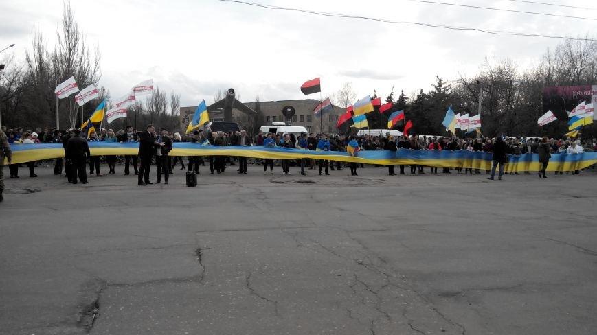 В Краматорске проходит шествие в поддержку Украины:ФОТОРЕПОРТАЖ (ОБНОВЛЯЕТСЯ) (фото) - фото 4