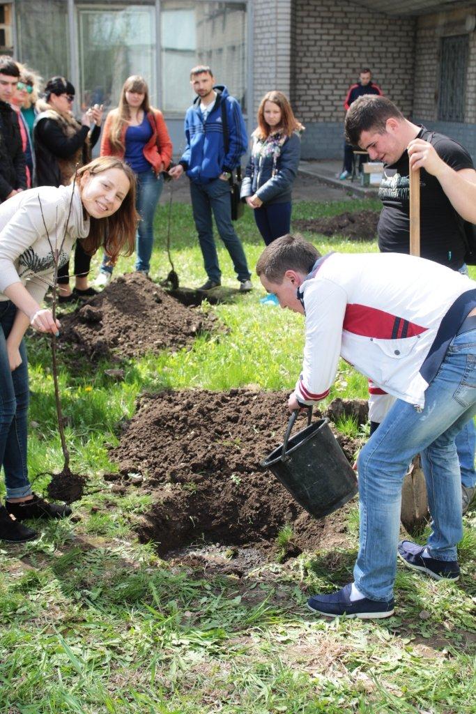 ДИТМ в Краматорске высадил яблоневый сад, фото-1