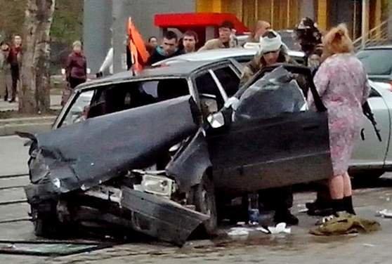 В Донецке боевики «ДНР» устроили ДТП (ФОТО) (фото) - фото 2