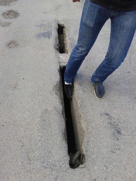 На Тернопільщині провалюються дороги (фото) (фото) - фото 1
