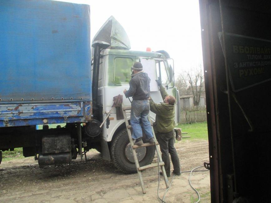 За четыре дня волонтеры отремонтировали машину из зоны АТО и передали в 93 бригаду (ФОТО) (фото) - фото 1