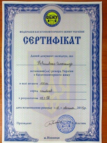 Кременчугский спортсмен выиграл винницкий чемпионат и установил новый национальный рекорд (фото) - фото 1