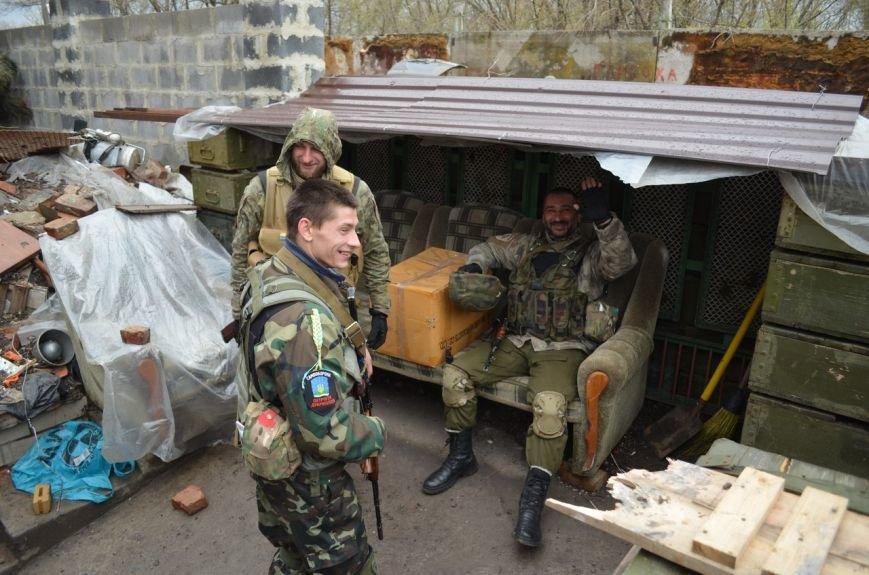 Патриоты Доброполья несли вахту на линии АТО совместно с одним из батальонов специального назначения (фото) - фото 1
