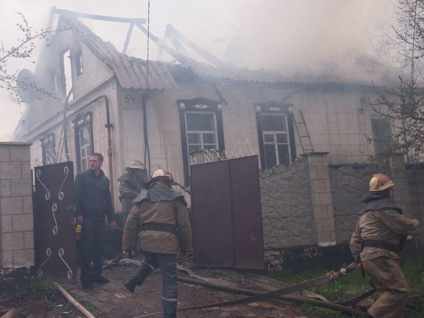 В Баглейском районе Днепродзержинска горел частный дом (фото) - фото 1