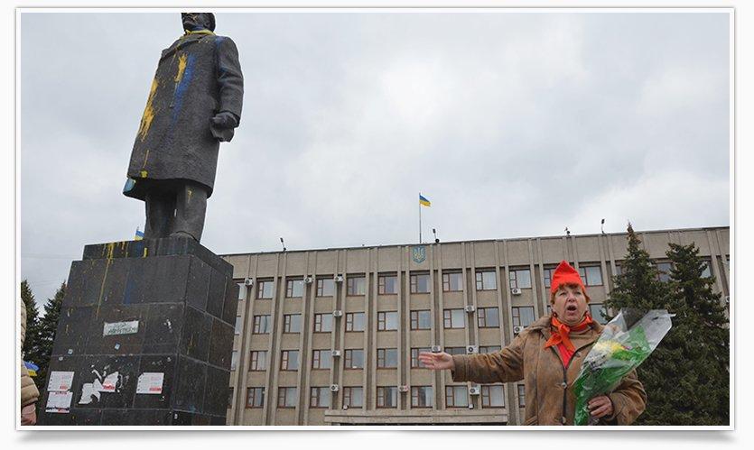 В Славянске трое собирают списки против сноса Ленина (фото) - фото 4