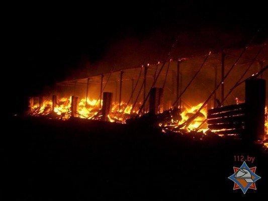 Фотофакт: в Лидском районе загорелось хранилище сена (фото) - фото 2