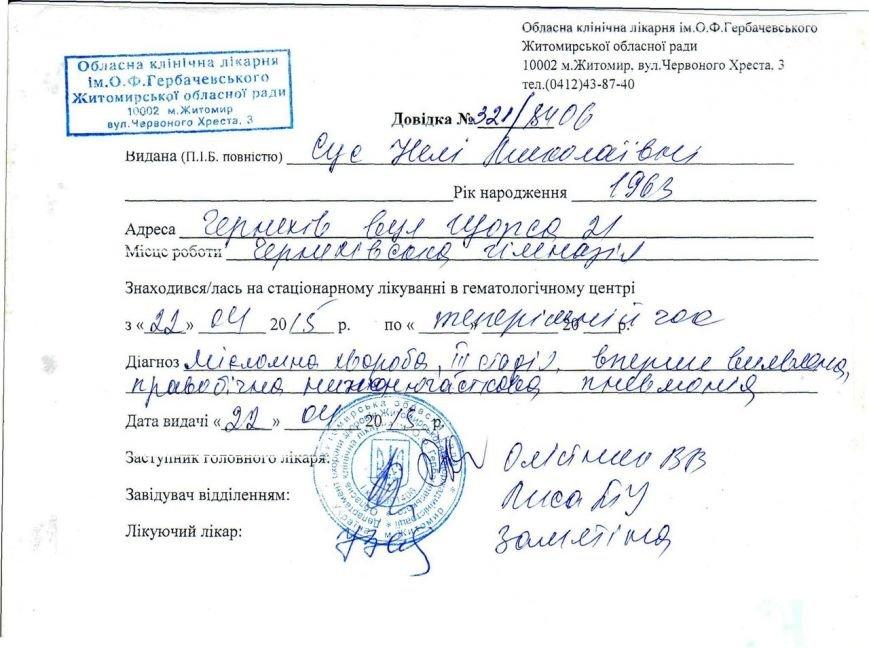 Тяжко захворіла одна з кращих спортсменок Черняхівщини (фото) - фото 1
