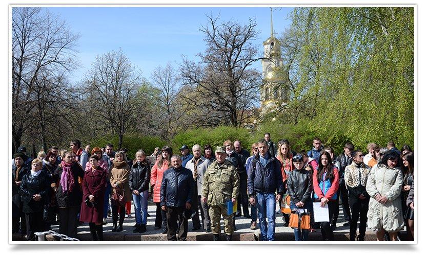 В Славянске прошёл митинг-реквием, посвящённый 29й годовщине аварии на ЧАЭС (фото) - фото 5