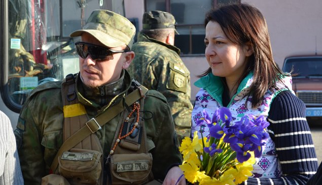 Бійці спецбатальйону «Тернопіль» повернулися із зони АТО (фото) (фото) - фото 1