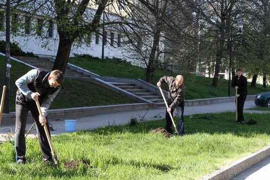 Аксенов высадил деревья в симферопольском парке и планирует подобные акции проводить каждые выходные (ФОТО) (фото) - фото 14