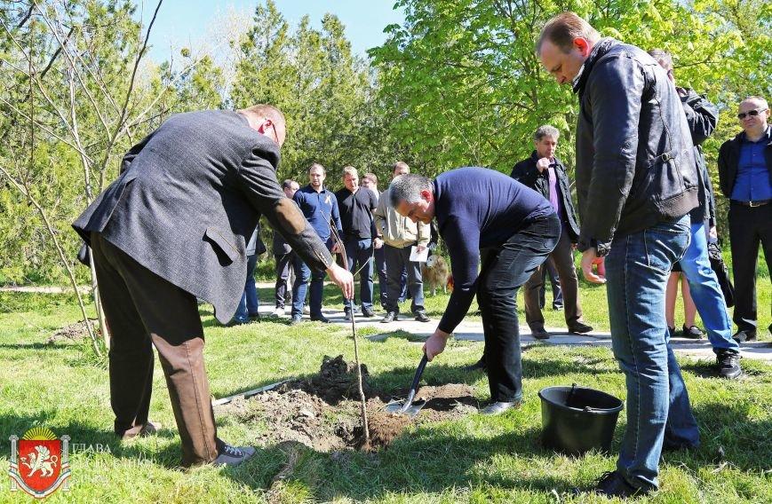 Аксенов высадил деревья в симферопольском парке и планирует подобные акции проводить каждые выходные (ФОТО) (фото) - фото 1