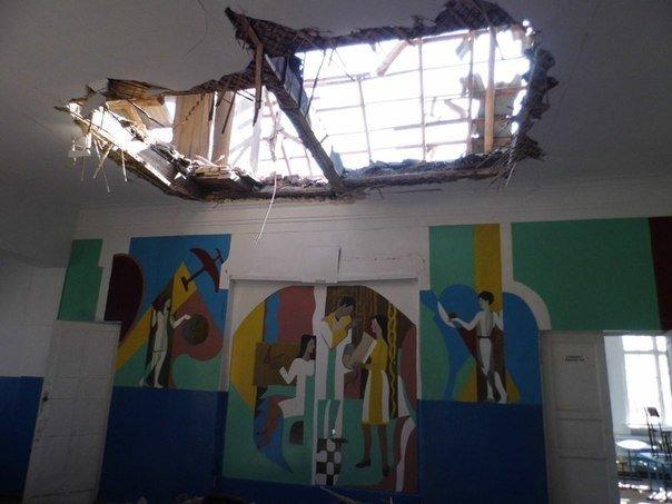 Последствия вчерашних боев в Саханке (ФОТО) (фото) - фото 1