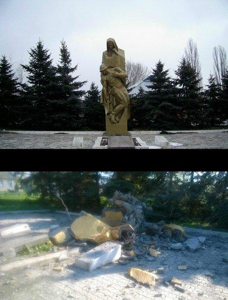 Последствия вчерашних боев в Саханке (ФОТО) (фото) - фото 2