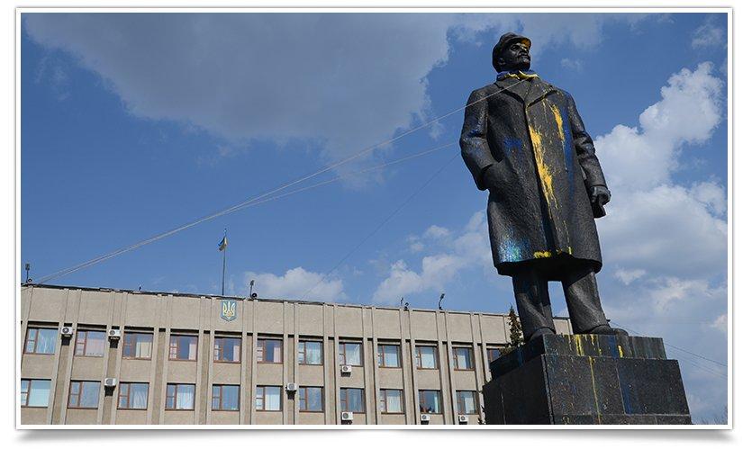 В Славянске Ленина поймали на удочку (видео) (фото) - фото 2