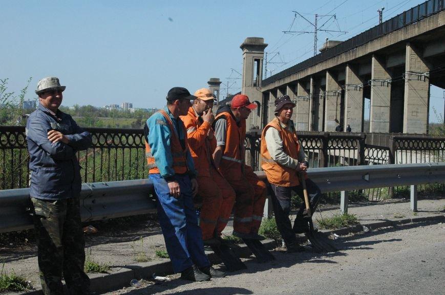В Запорожье начался дорожный ремонт на мосту Преображенского (ФОТОРЕПОРТАЖ), фото-1