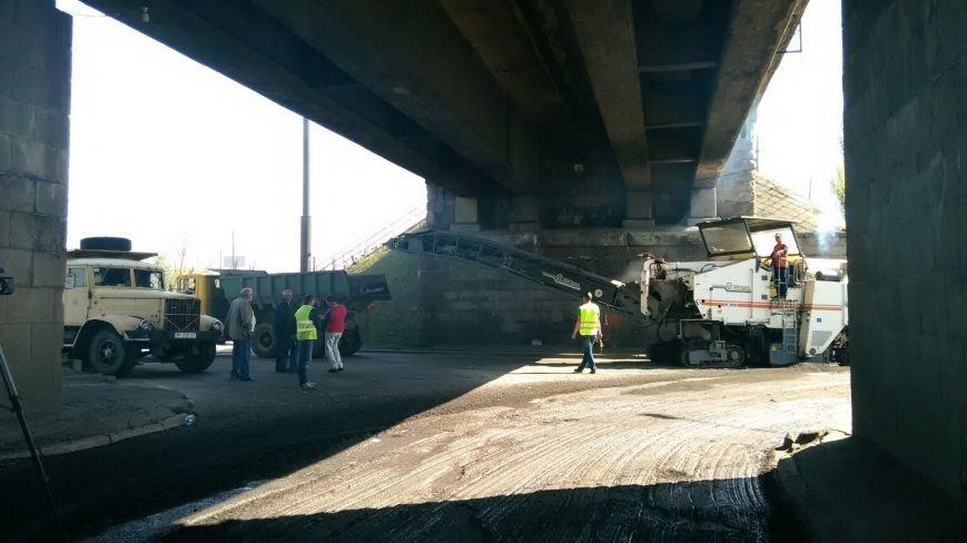 ФОТОФАКТ: В Запорожье перекрыли движение по мосту Преображенского, фото-5